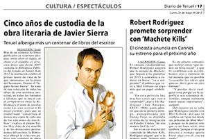 Cinco años de custodia de la obra literaria de Javier Sierra
