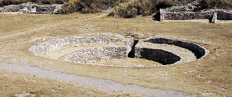 Restos de antiguo Kiva ceremonial indígena