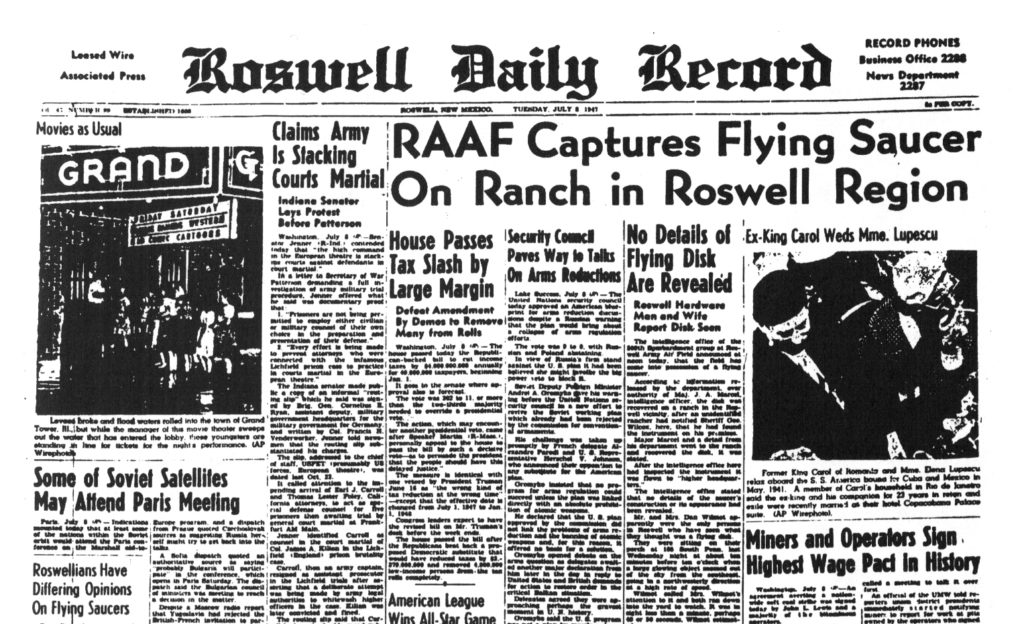 Roswell Daily Record 8 julio 1947