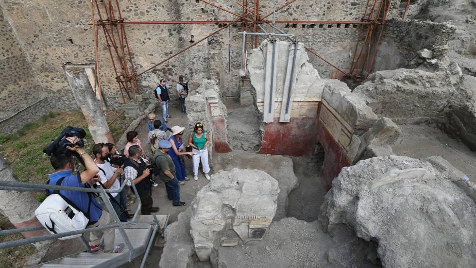 Una de las zonas de la 'Regio V', la nueva área en la que están excavando los arqueólogos de Pompeya.