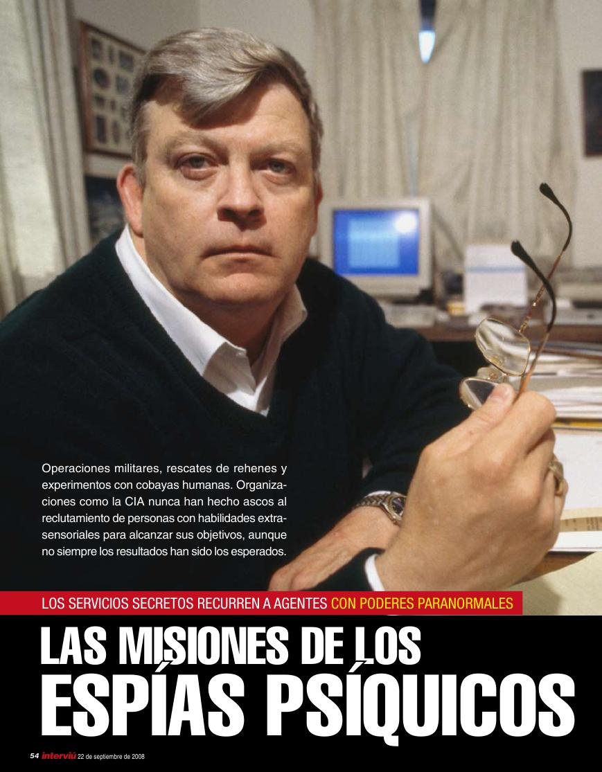 20080922 INTERVIÚ Espías psíquicos