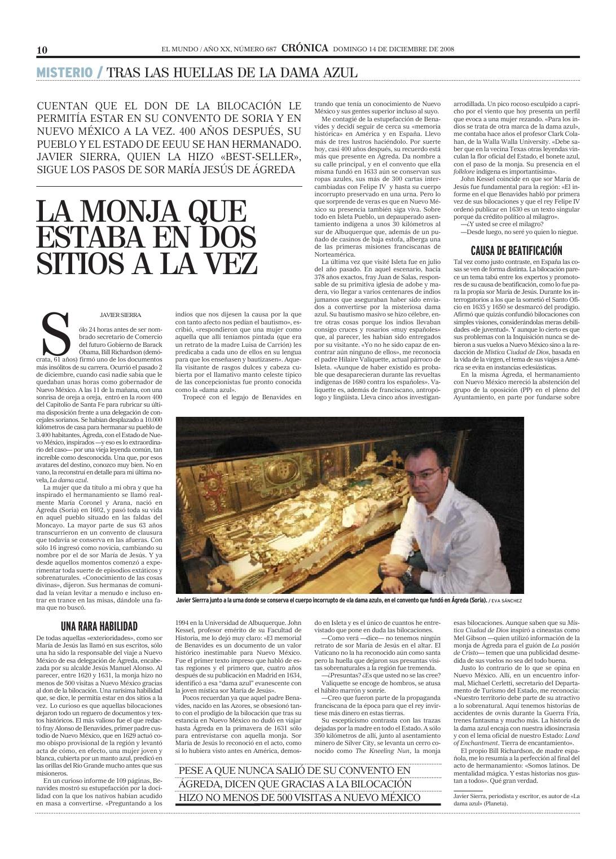 20081214 EL MUNDO Tras las huellas de la Dama Azul