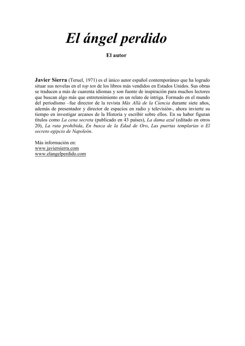 20101202 DOSSIER DE PRENSA El Ángel Perdido