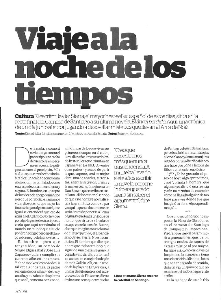 20110320 CLARÍN Viaje a la noche de los tiempos [Argentina]