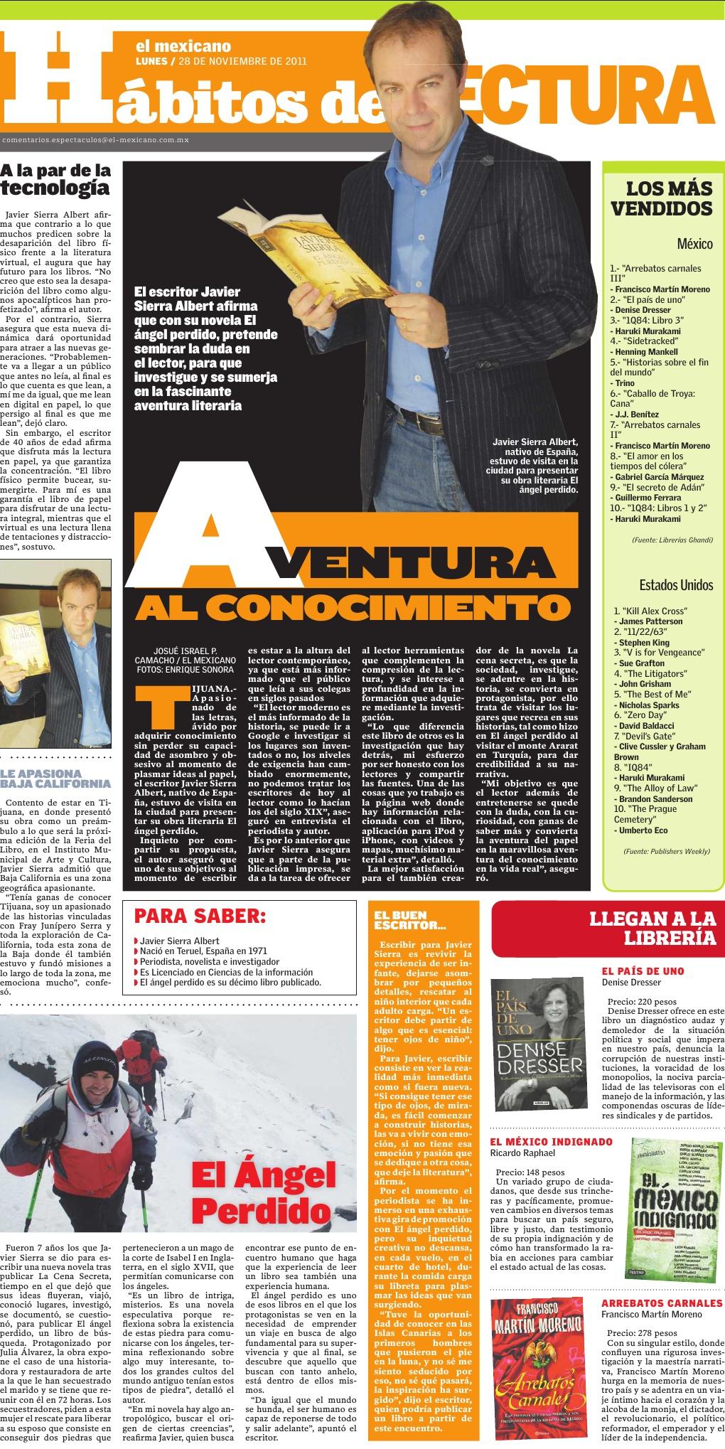 20111128 EL MEXICANO Aventura al conocimiento [México]