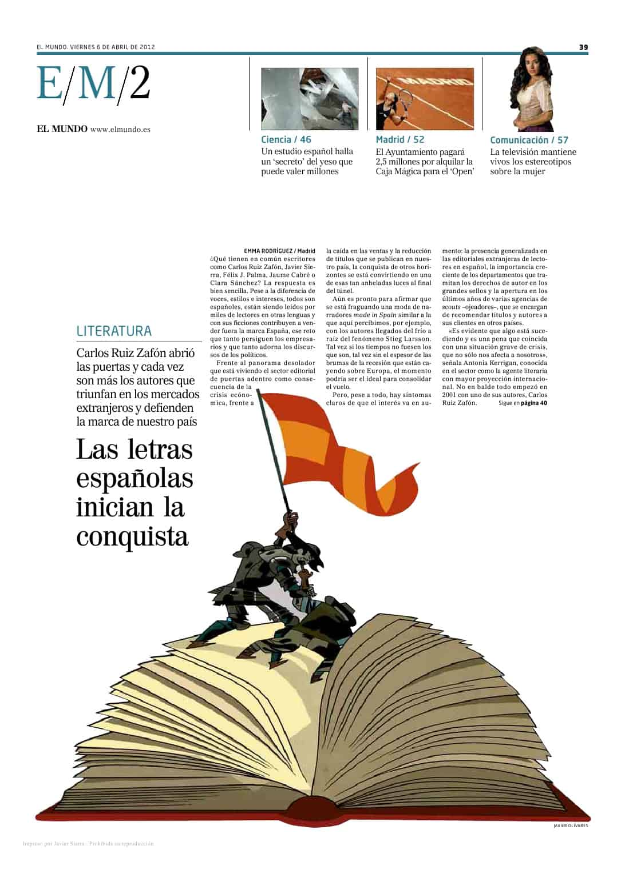 20120406 EL MUNDO Las letras españolas inician la conquista