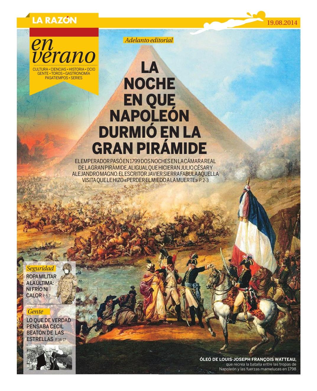 20140819 LA RAZÓN La noche en que Napoleón durmió en la Gran Pirámide