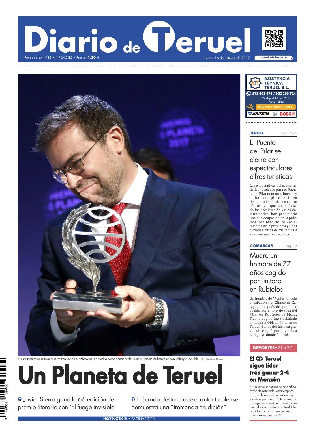 20171016 DIARIO DE TERUEL Un Planeta de Teruel