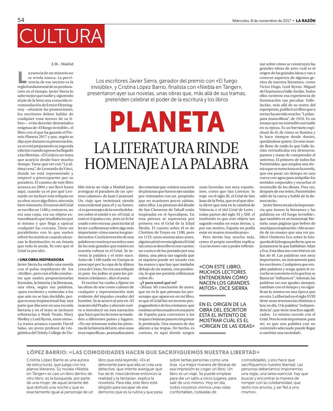 20171108 DOSSIER DE PRENSA Premio Planeta