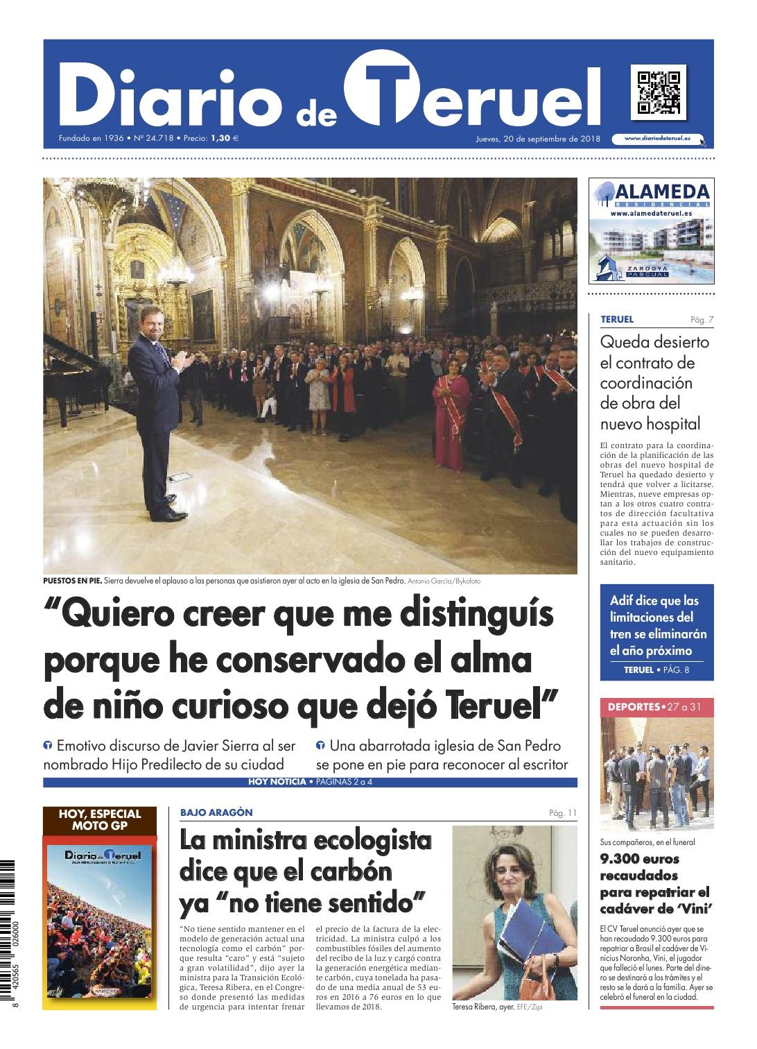 20180920 DOSSIER DE PRENSA Hijo Predilecto de Teruel