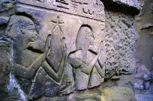 Astrónomos en templo Karnak, Egipto