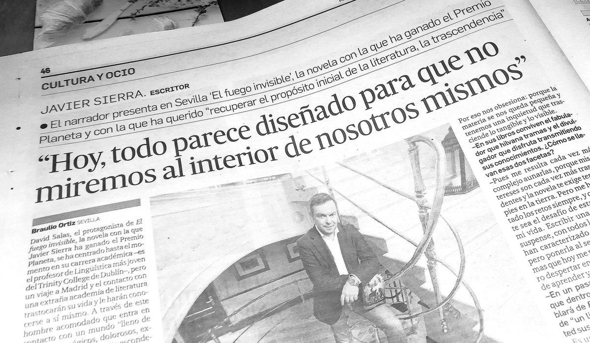 Diario de Sevilla - Entrevista a Javier Sierra