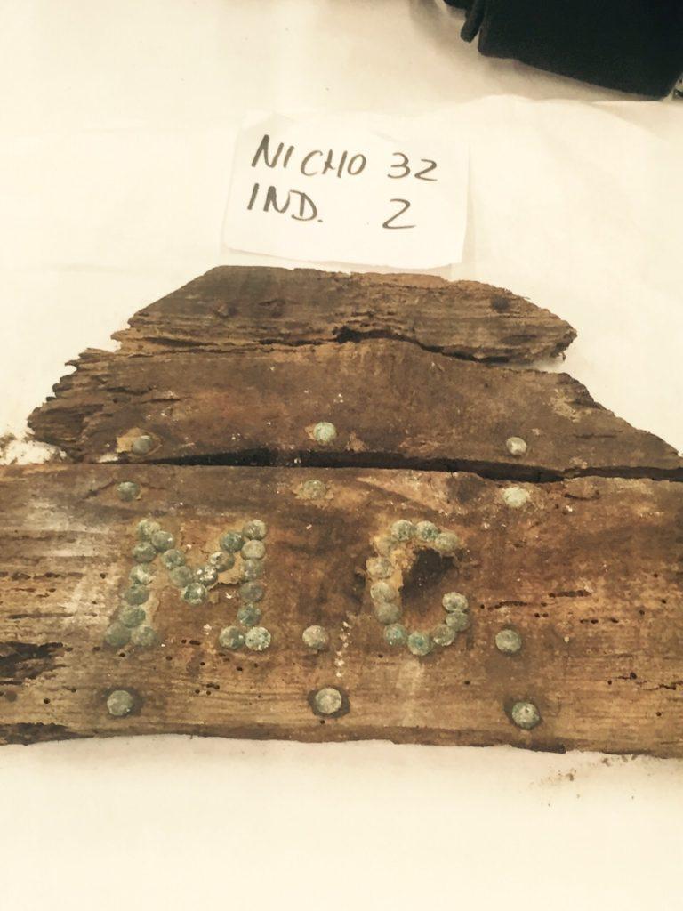 Inscripción MC Cripta de Cervantes