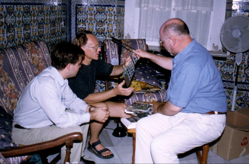 Javier Sierra con Graham Hancock y Juan Eslava