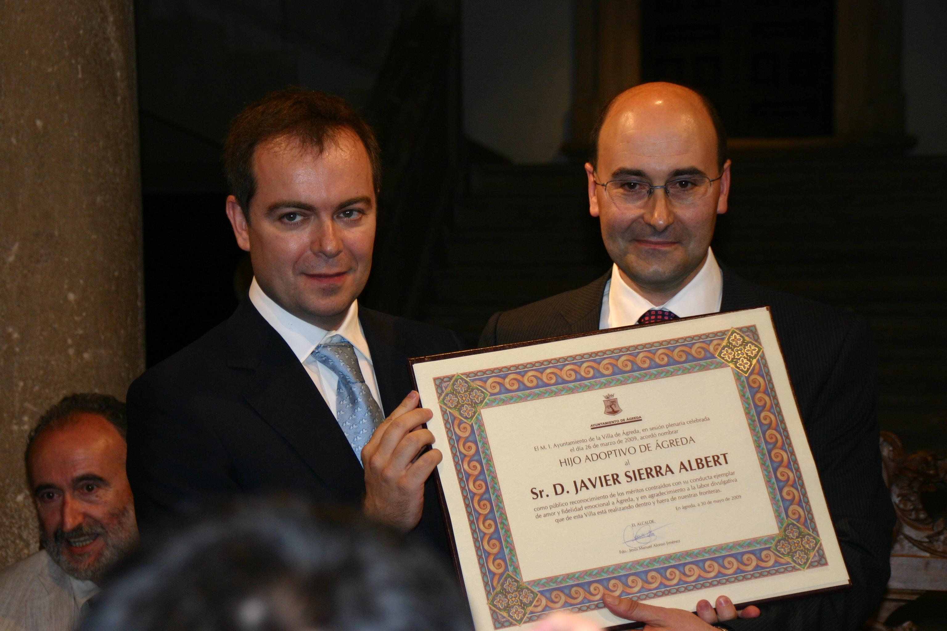 Javier recibe título de Hijo Adoptivo de Ágreda