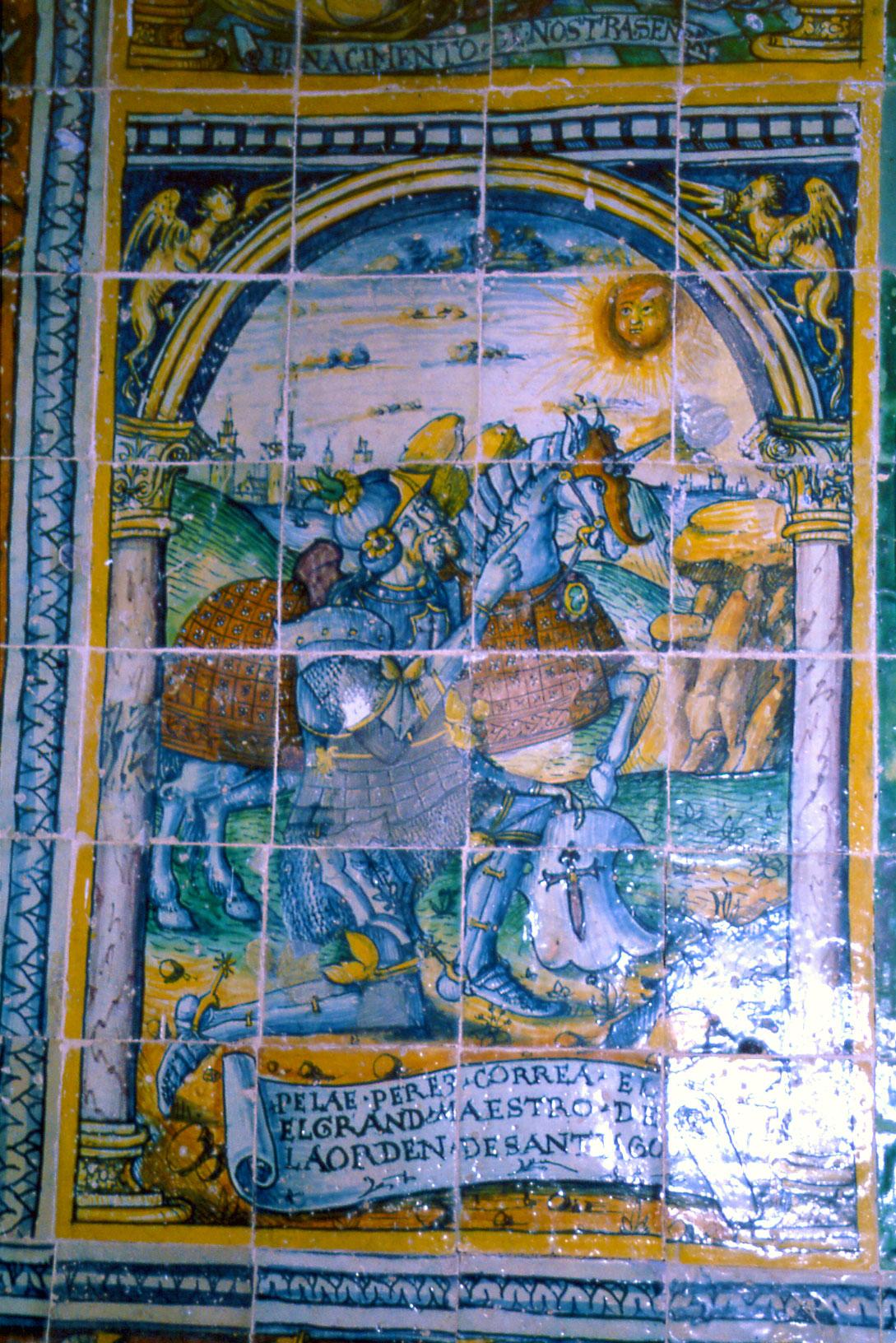 Mosaico que recrea el milagro de Tentudía
