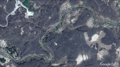 Visión de las estructuras desde satélite